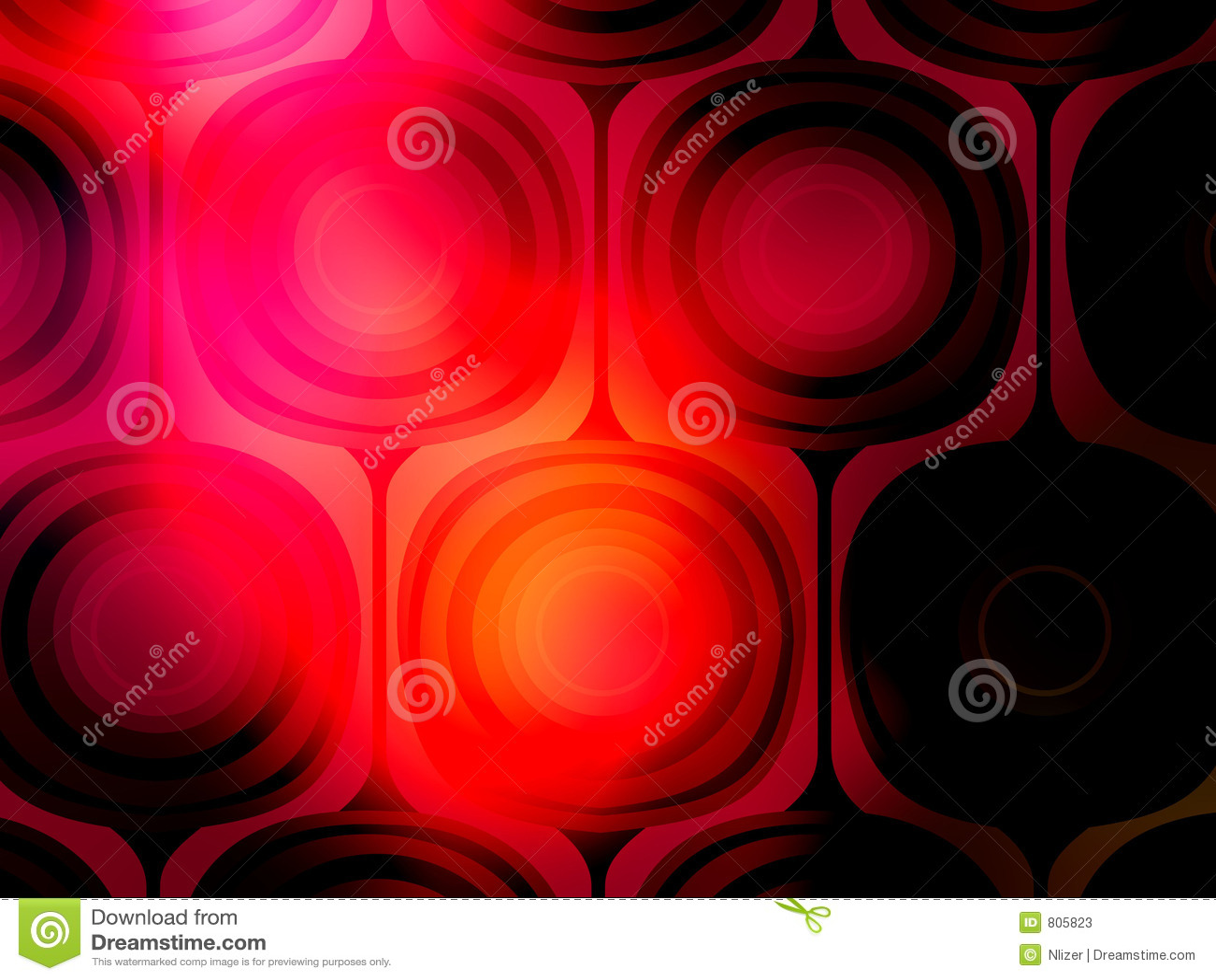 Vibrant Red Black Mod Background Wallpaper Stock