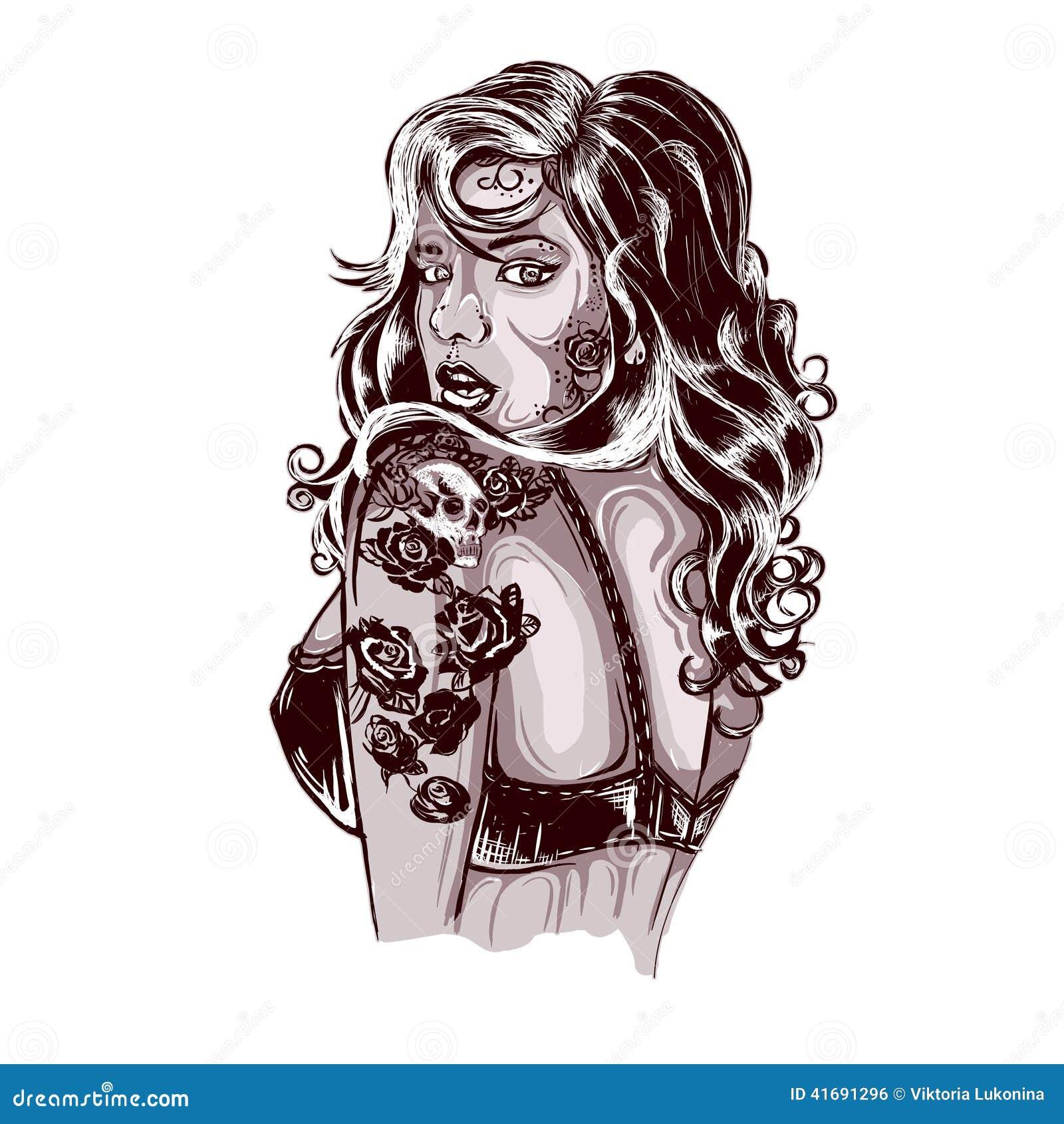 Old school tattoos swallow tattoo design shop tattooed lady picture