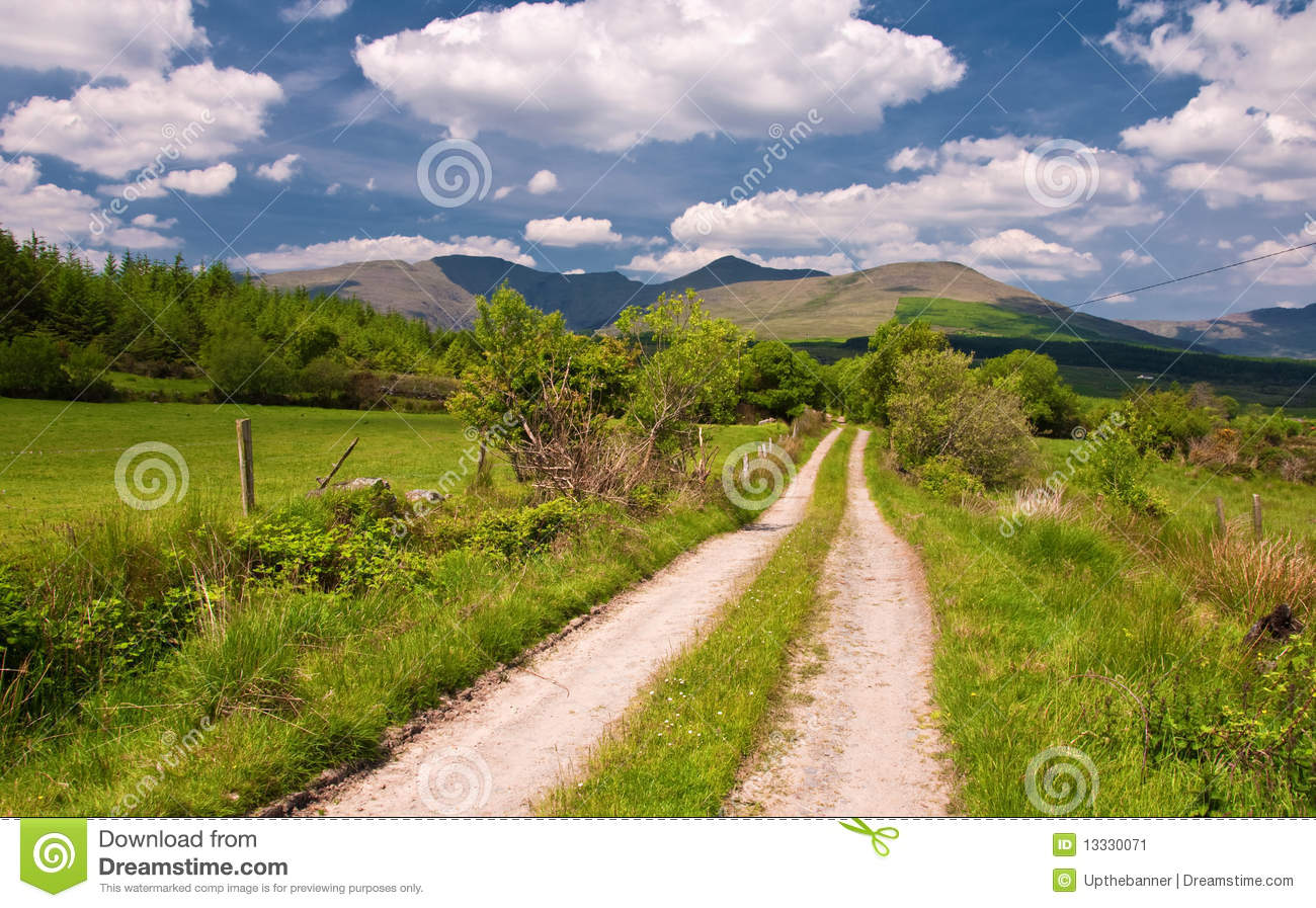 vibrant scenic landscape from the west of ireland stock image