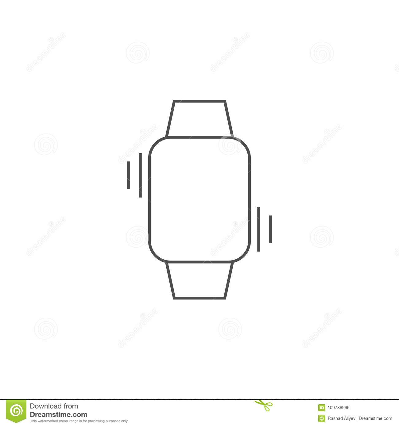 Vibration On A Smart Watch Icon  Element For Mobile Concept