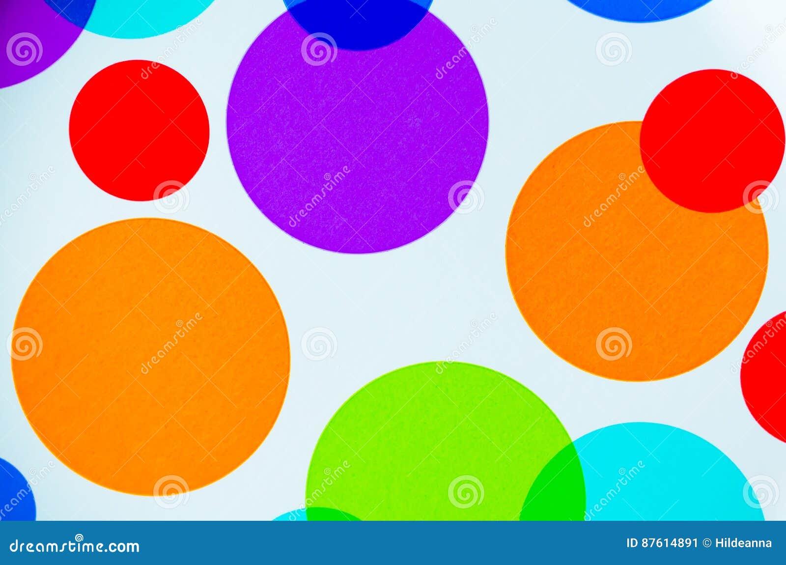 Vibrerande färgrika cirklar