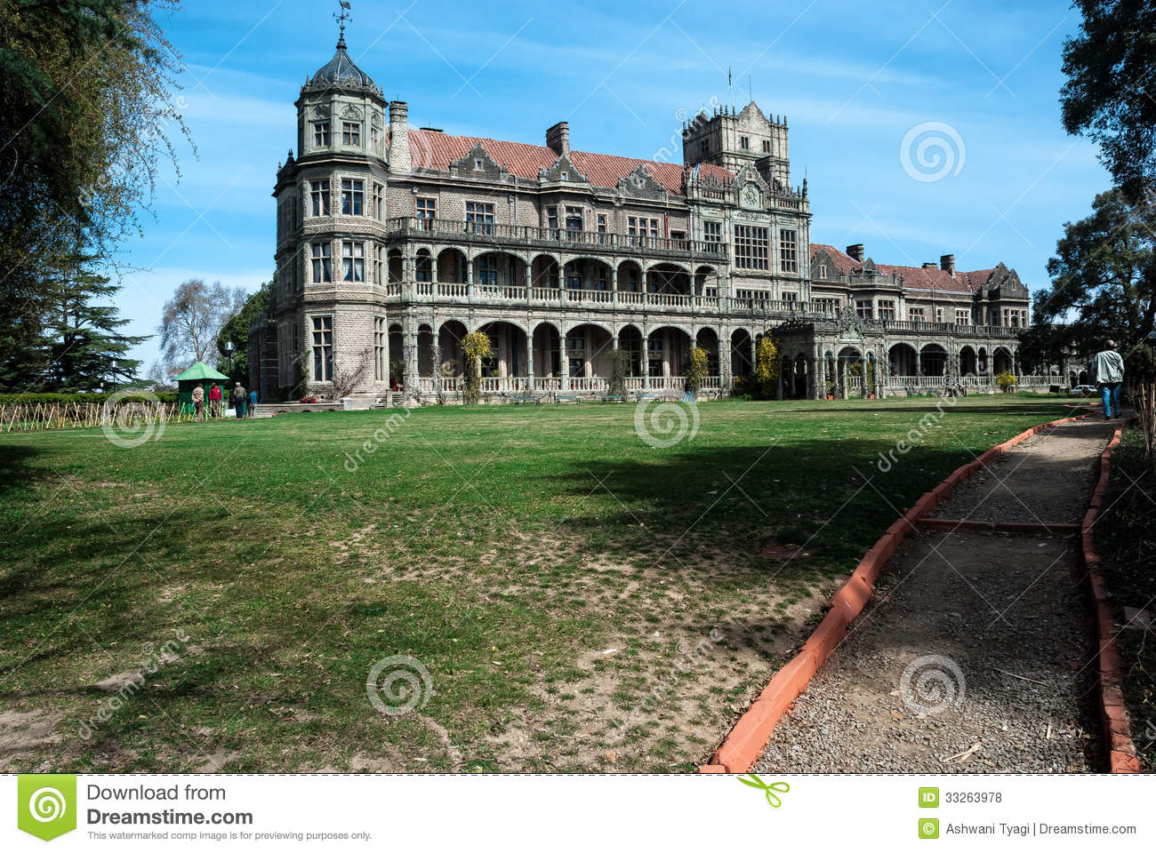 Viceroys lodge in Scottish baronial style built during the British raj ...