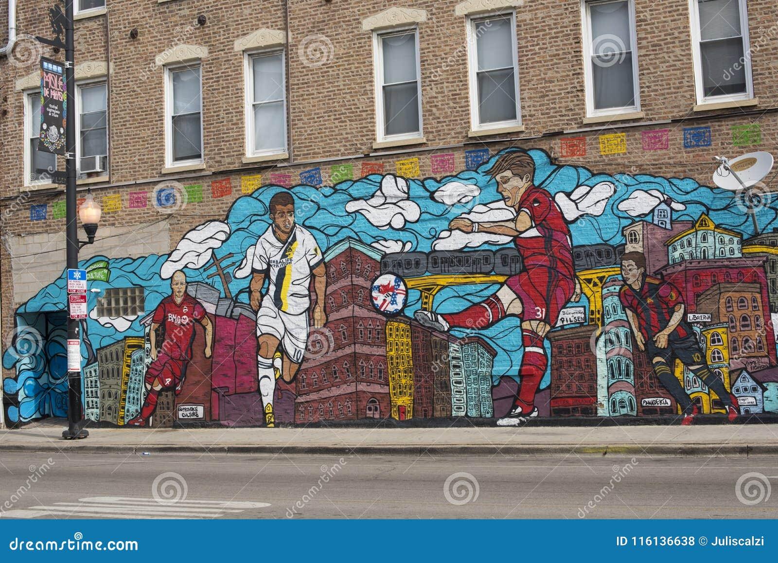 Costo Di Un Murales.Vicinanza Art Mural Pubblico Viva Futbol Un Murale Di