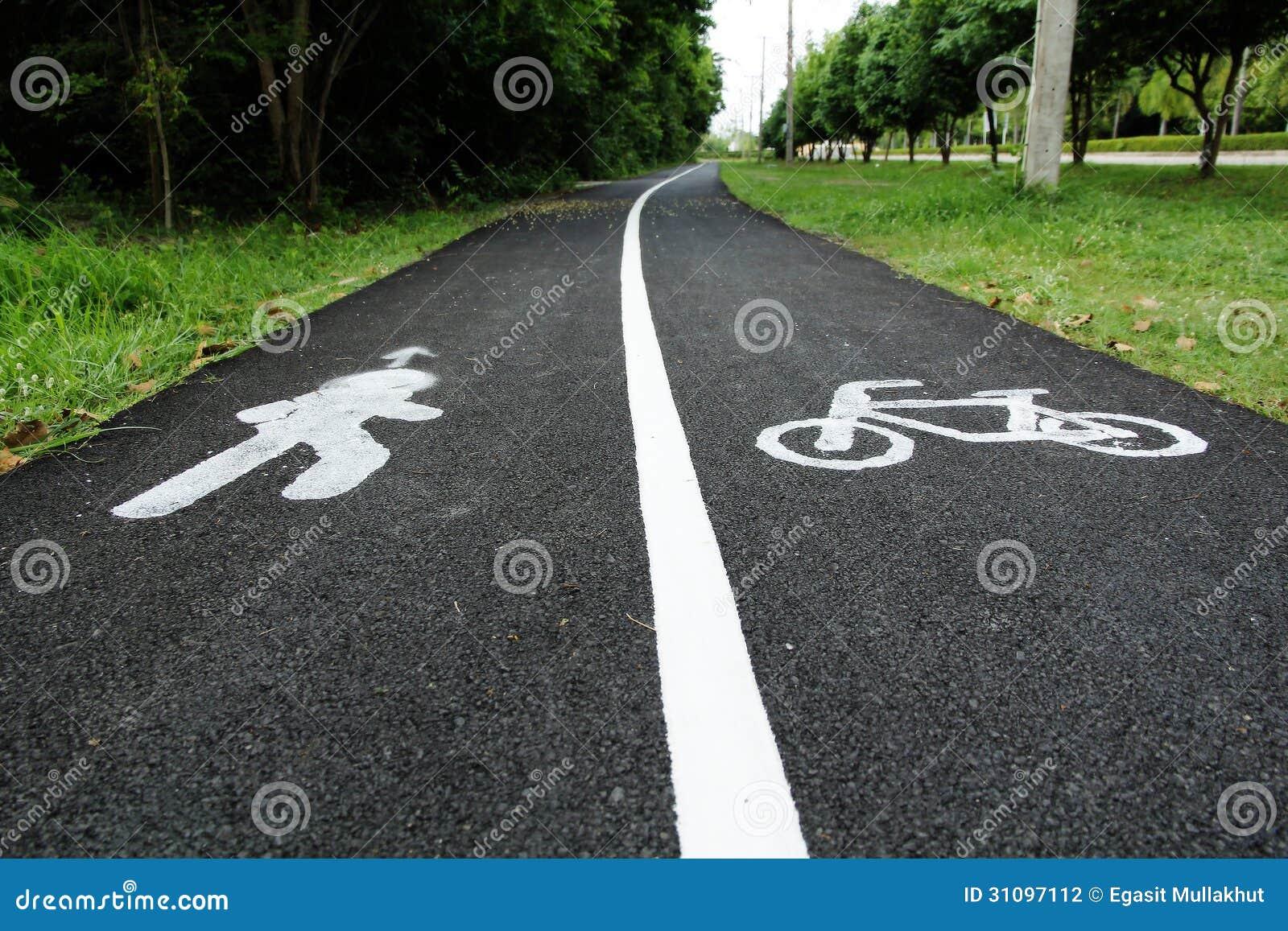 Vicoli riservati della bicicletta e del pedone