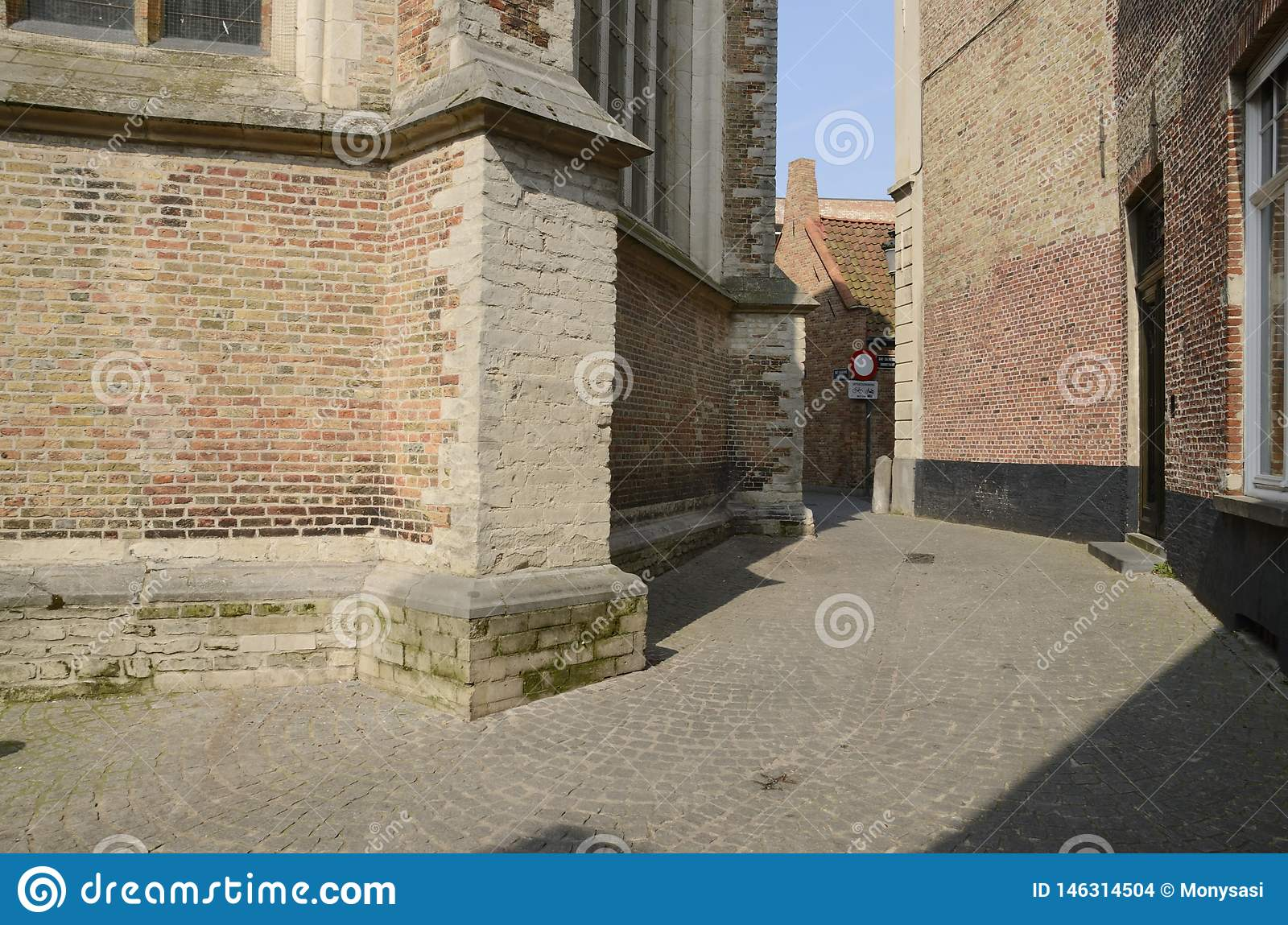 Vicolo medievale a Bruges