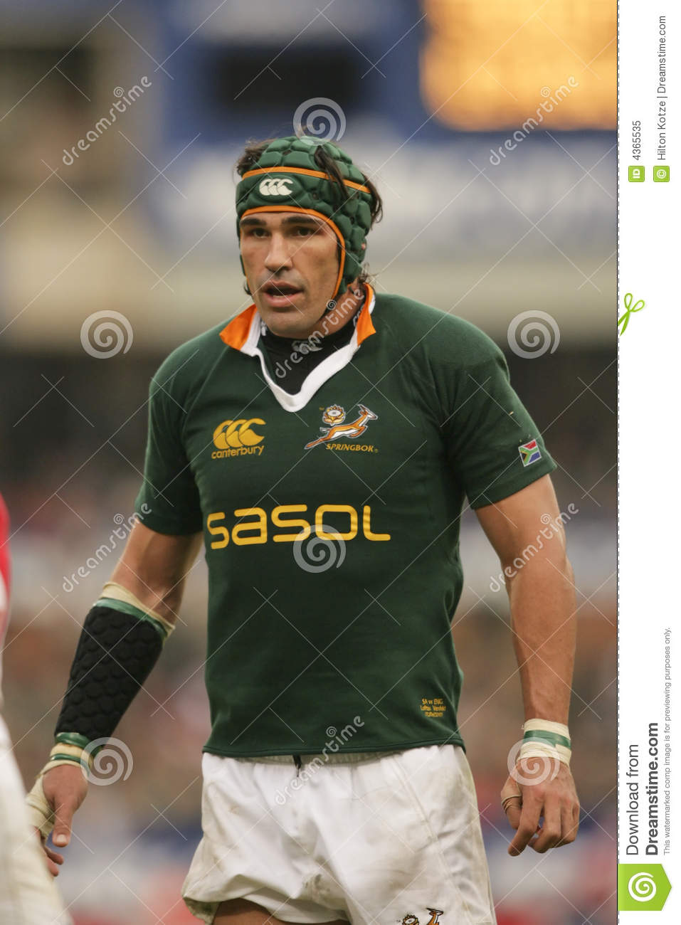Victor Matfield At 2007 England Vs Springboks Editorial