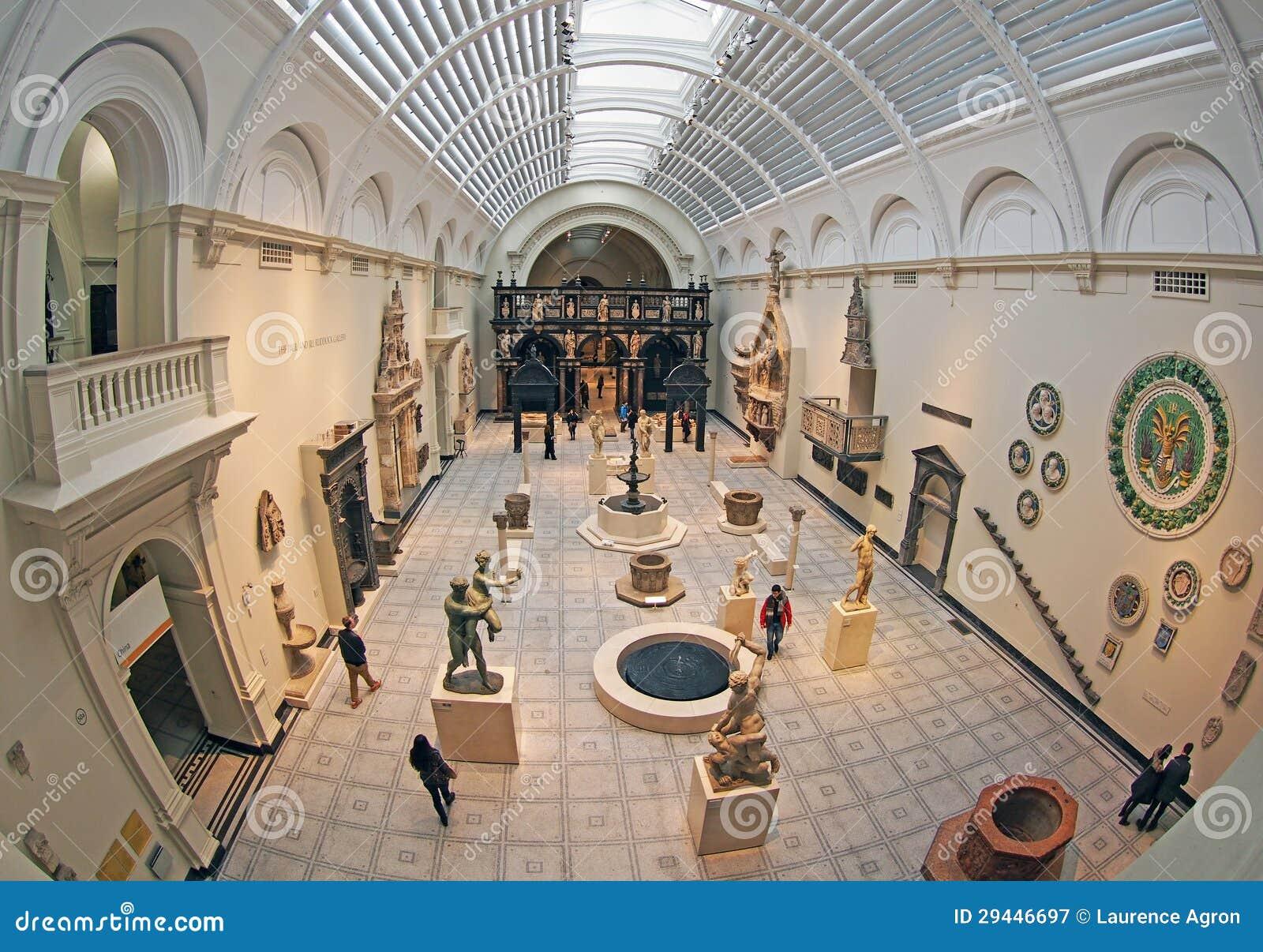 Victoria And Albert Museum Interior Editorial Photography