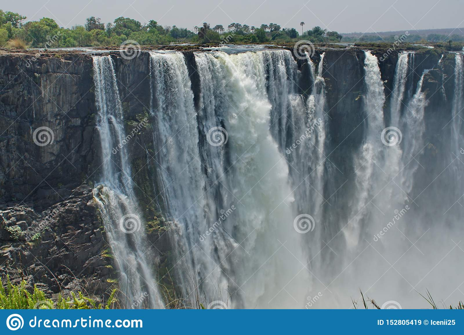 Victoria Falls In The Dry Season Stock Image Image Of
