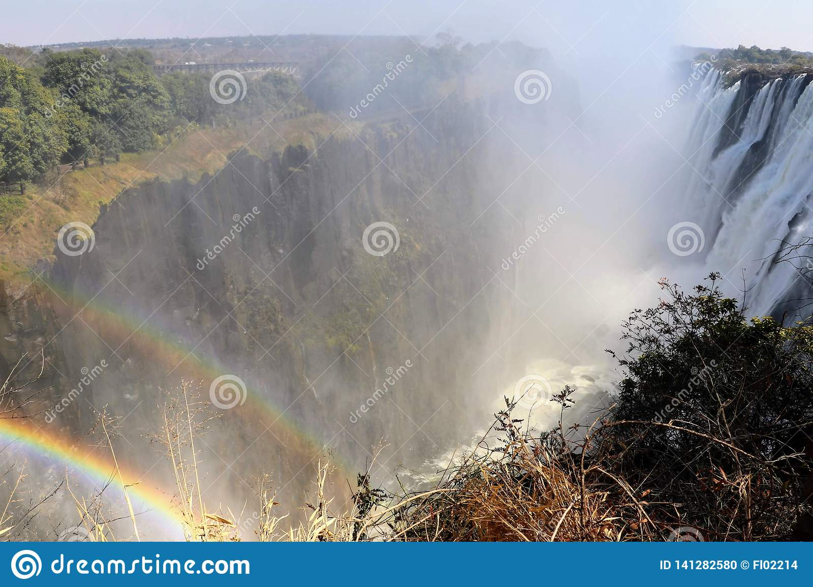 Victoria Falls от стороны Замбии