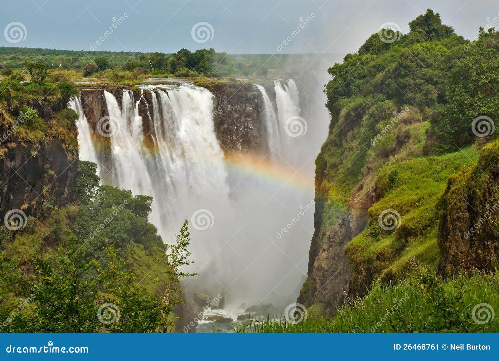 Victoria Falls Zimbabwe, closeup