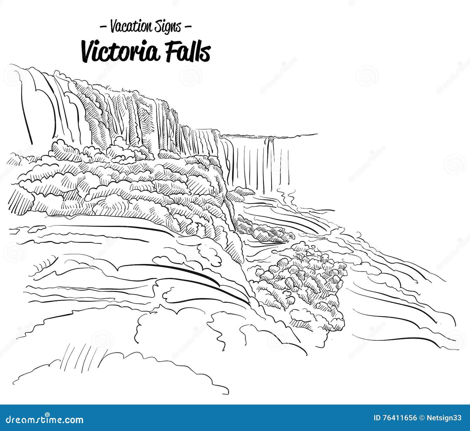 Victoria Falls Zimbabwe Landmark