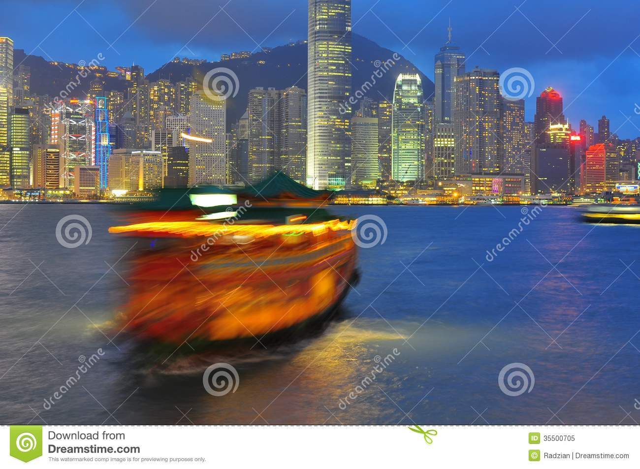 Victoria Harbour of Hong Kong