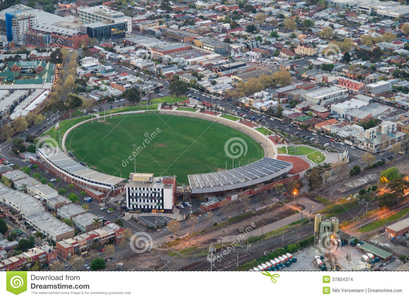 Lakeside Home Plans Victoria Park Football Oval Stock Images Image 37804374