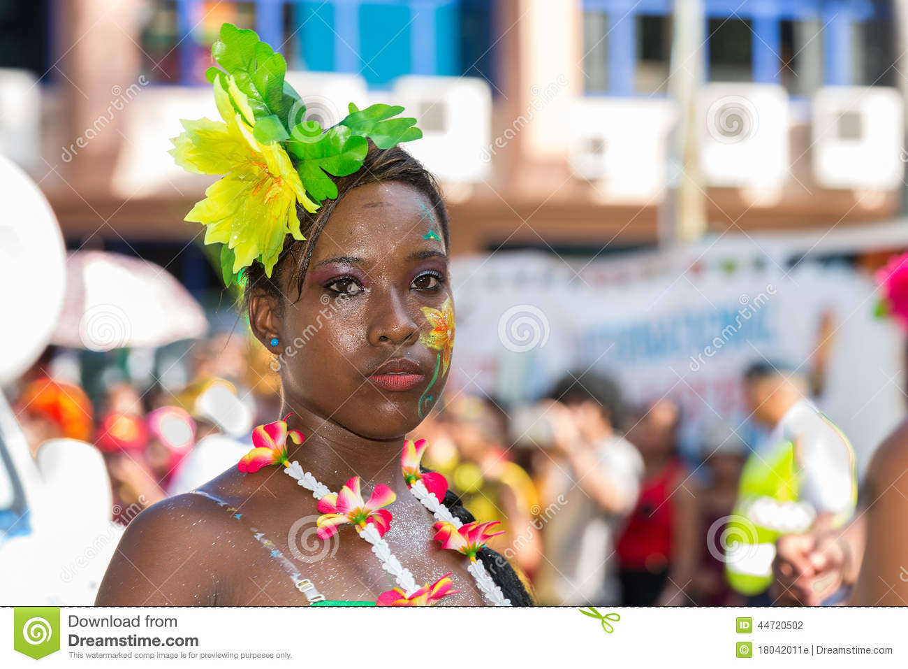 Victoria Seychelles April 26 2014 Young Creole Women At