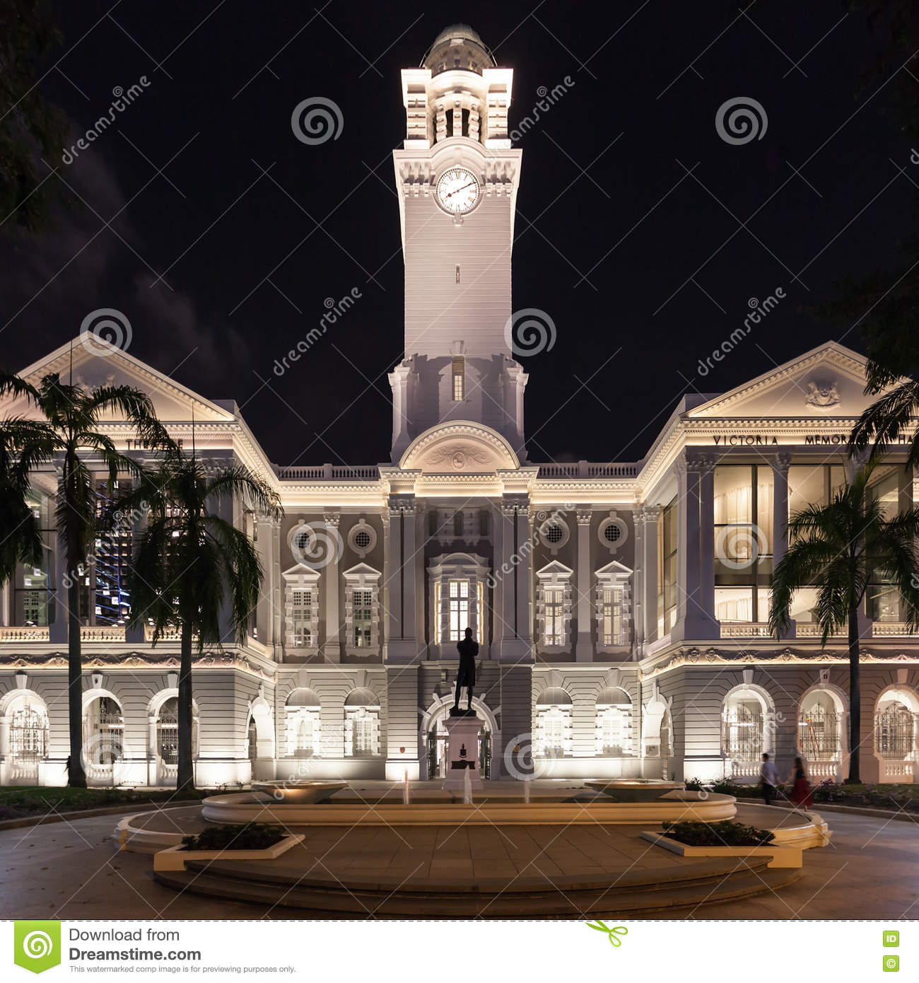 Victoria Theatre, Singapore Editorial Photography - Image of history