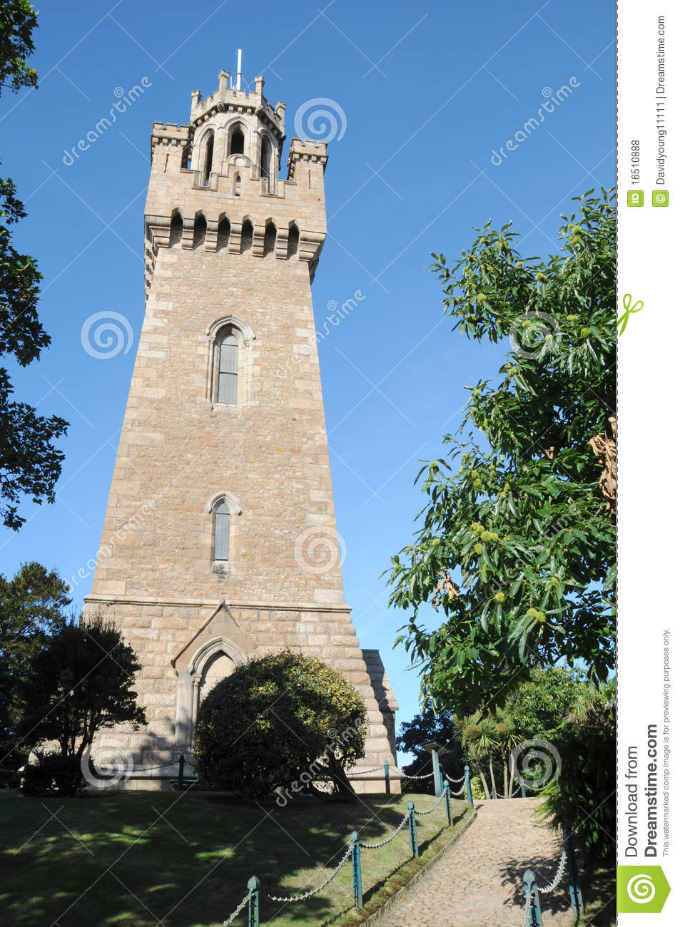 Victoria tower st peter port guernsey royalty free stock - What time does victoria gardens close ...