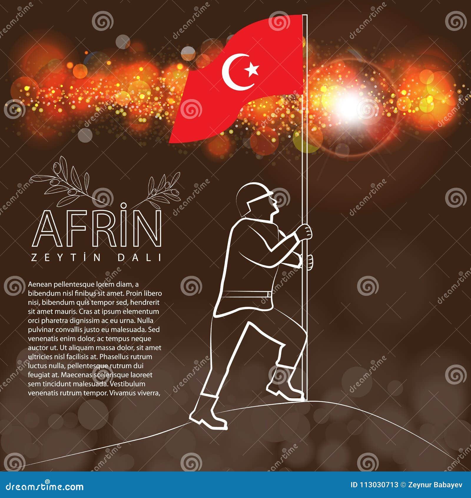 Victoria turca en Afrin La traducción meaining es Afrin - rama de olivo nombrada operación