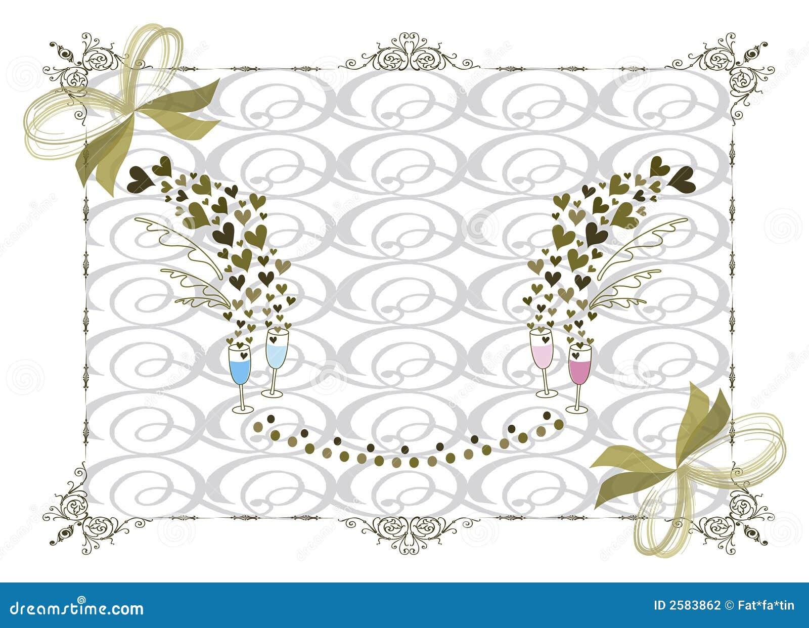 Victoriaans gouden huwelijksframe