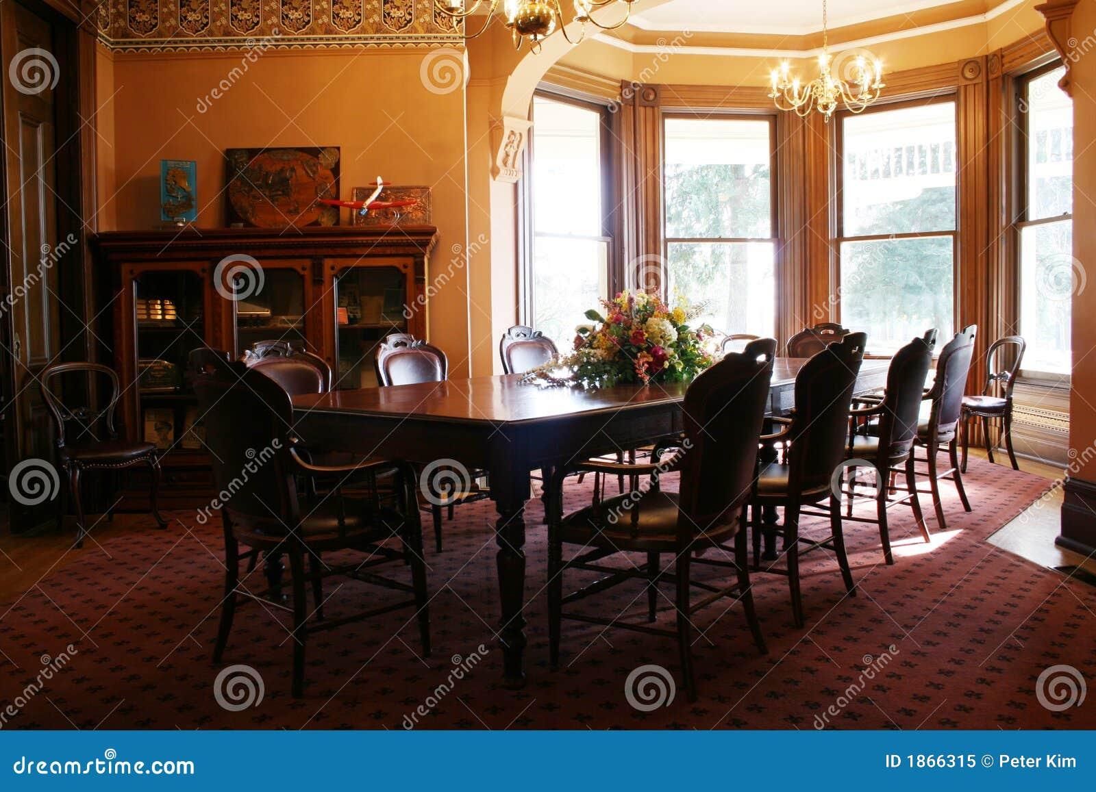 Victoriaanse eetkamer royalty vrije stock foto afbeelding 1866315 - Foto eetkamer ...