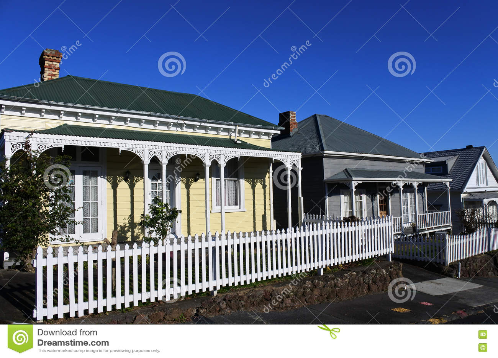 Victoriaanse huizen nieuw zeeland stock afbeelding afbeelding 73874773 - Foto huizen ...