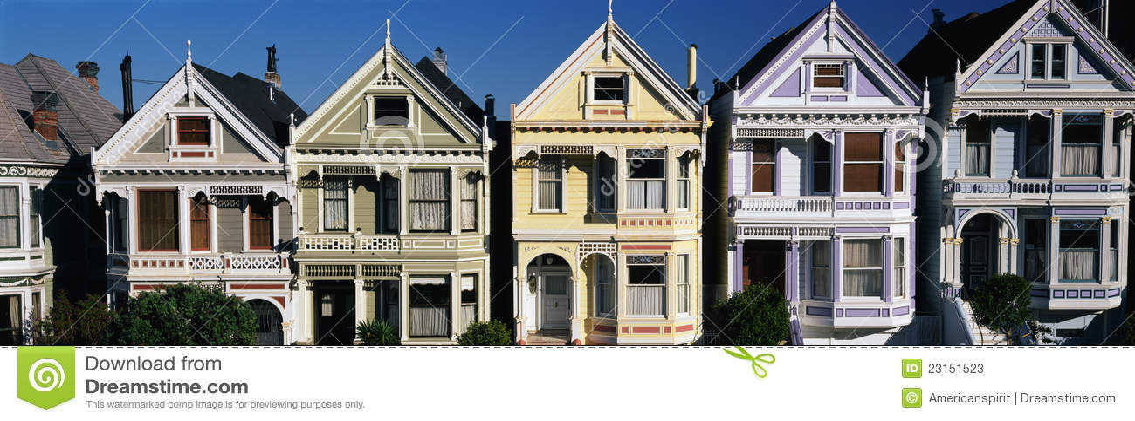 Victoriaanse Huizen, San Francisco, CA