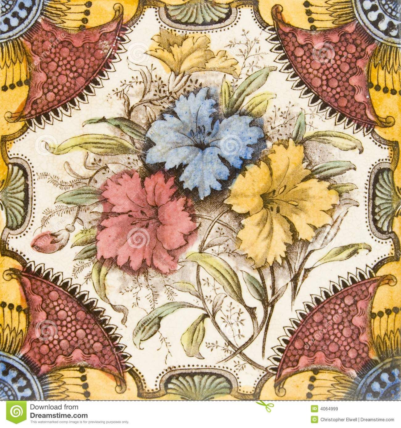 Victorian Antique Tile Royalty Free Stock Images Image