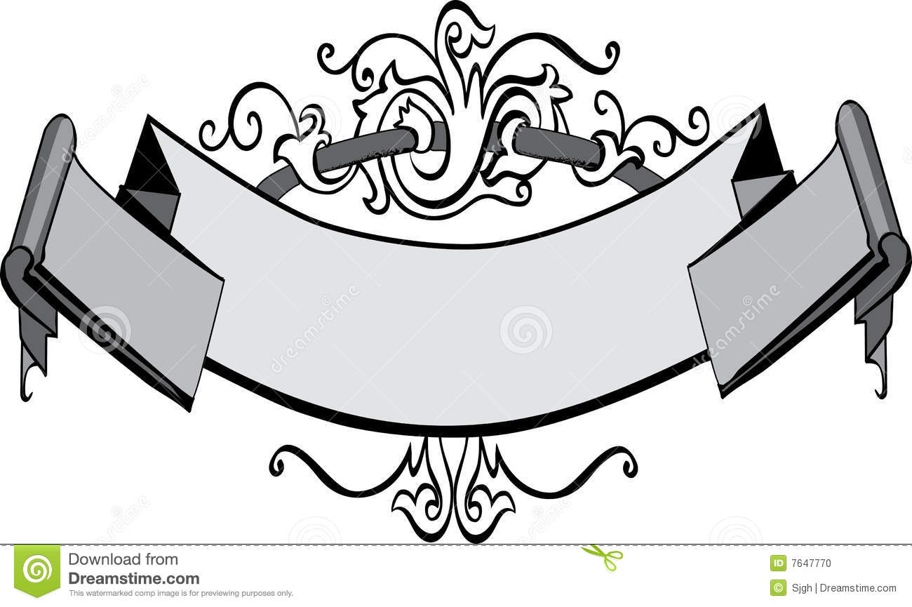 Victorian Banner Stock Photo - Image: 7647770
