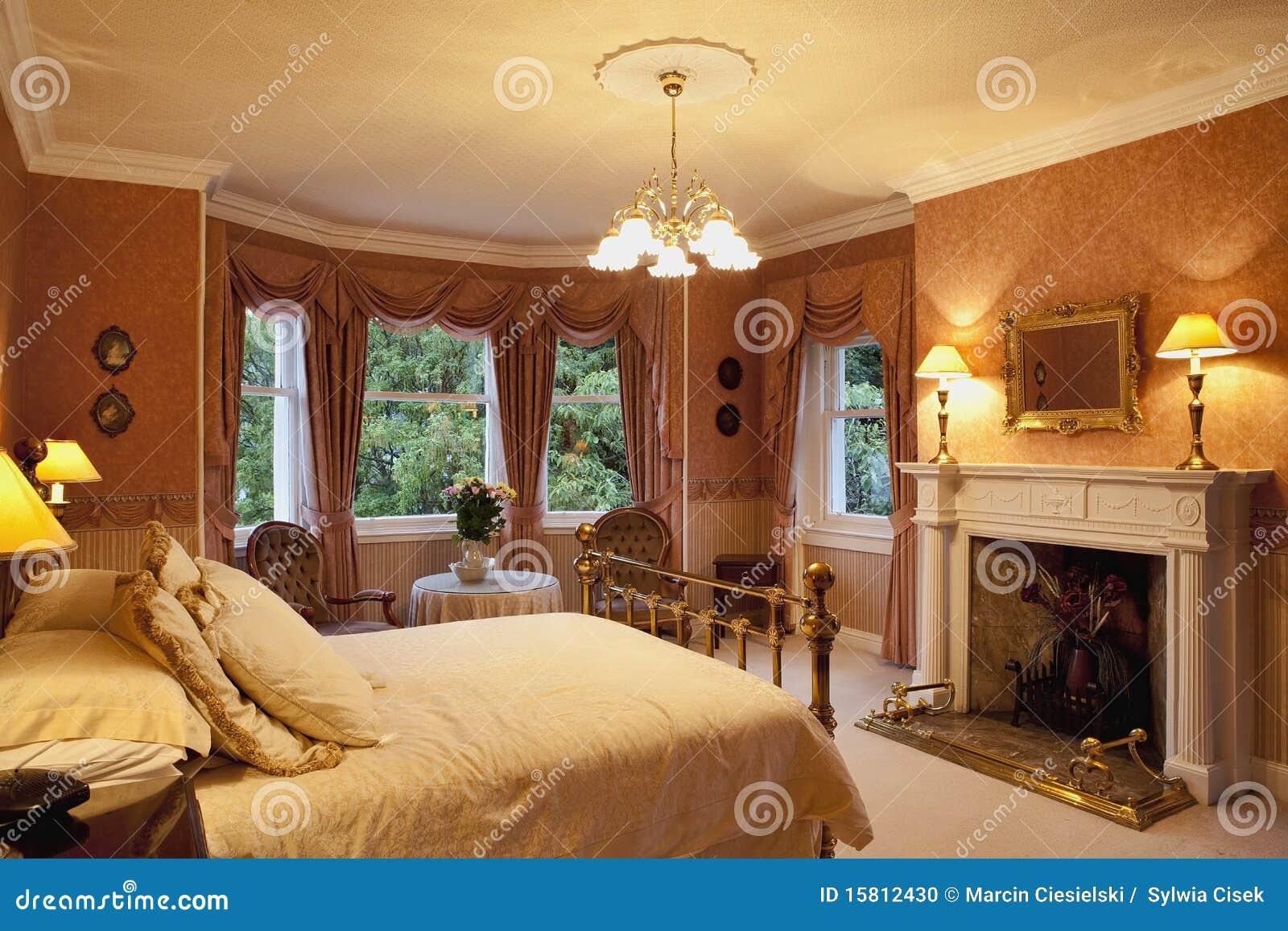 Victorian Bedroom Stock Photo Image Of Wallpaper