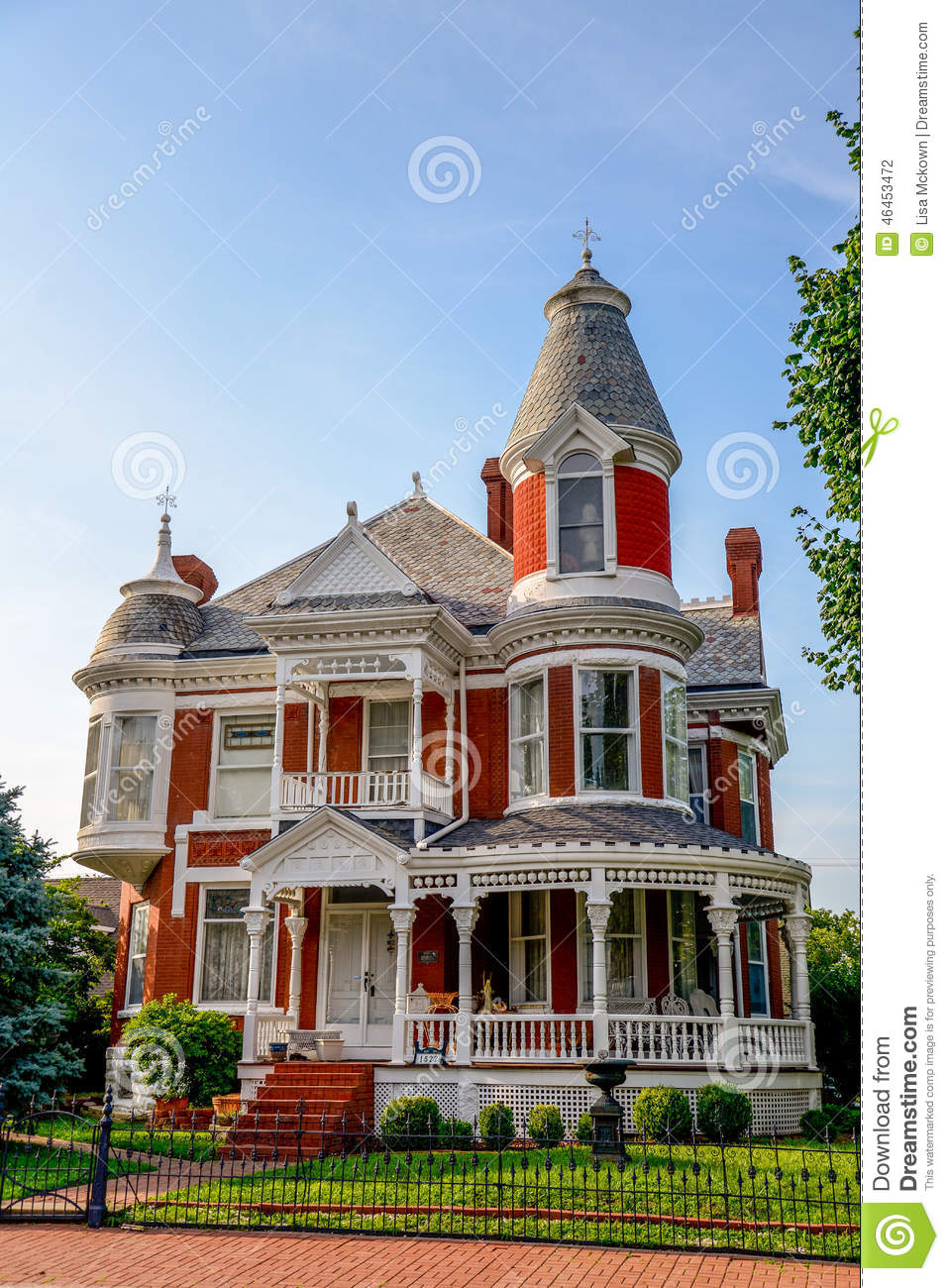 victorian brick bed and breakfast home stock photo image On bed and breakfast home