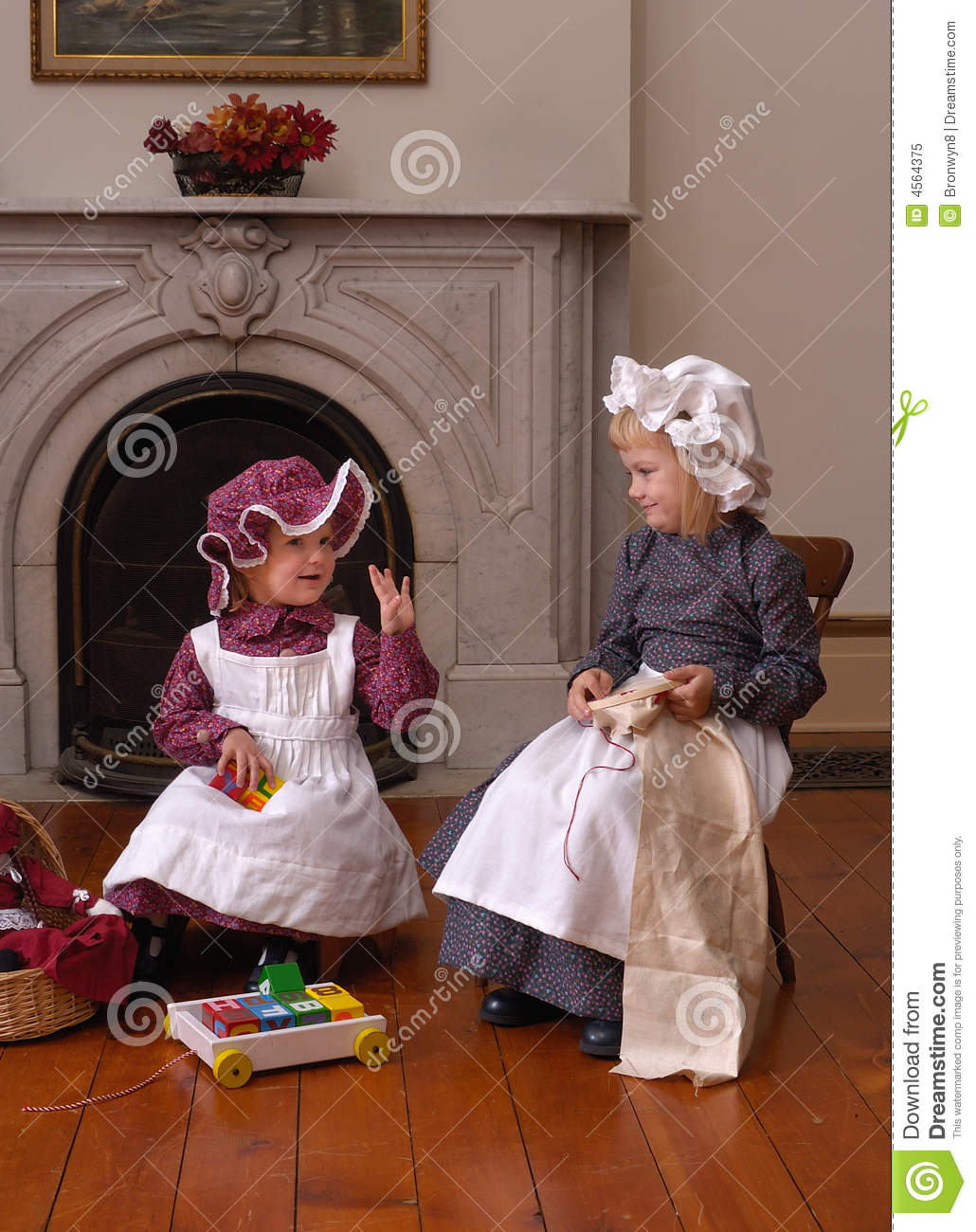 Victorian Children Royalty Free Stock Photo Image 4564375