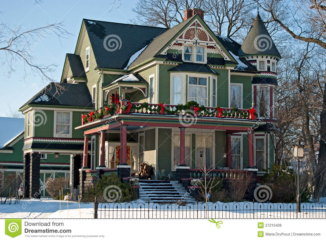 Victorian Christmas House Royalty Free Stock Image - Image: 27210406