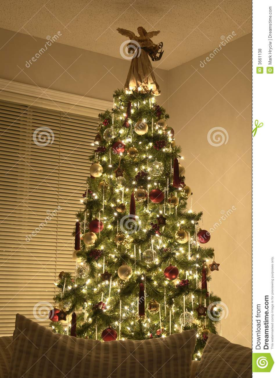 Victorian Christmas Tree.Victorian Christmas Tree Stock Photo Image Of December