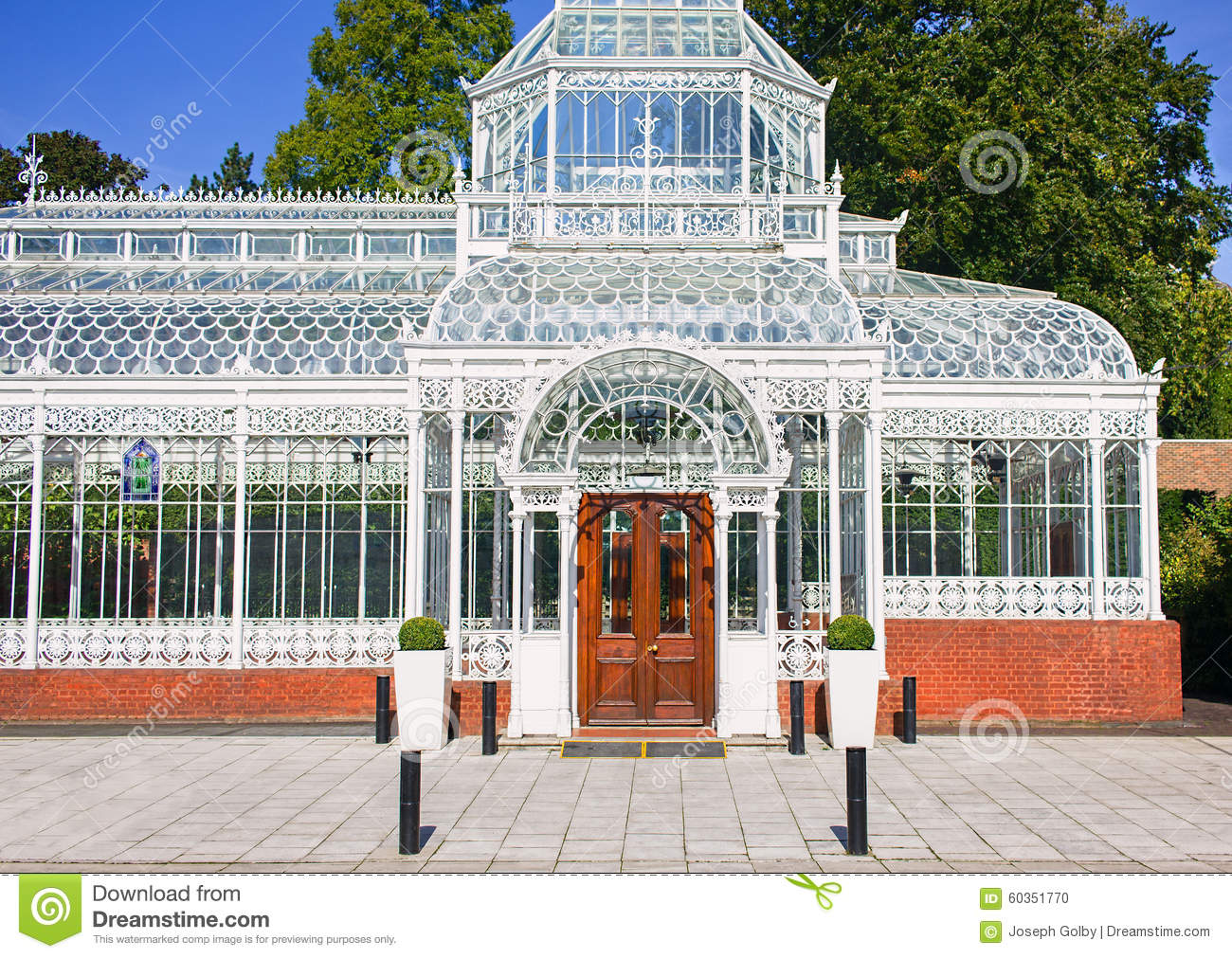 Ironwork Victorian Style And Flower Pot On Steps Royalty Free Stock Image Cartoondealer Com