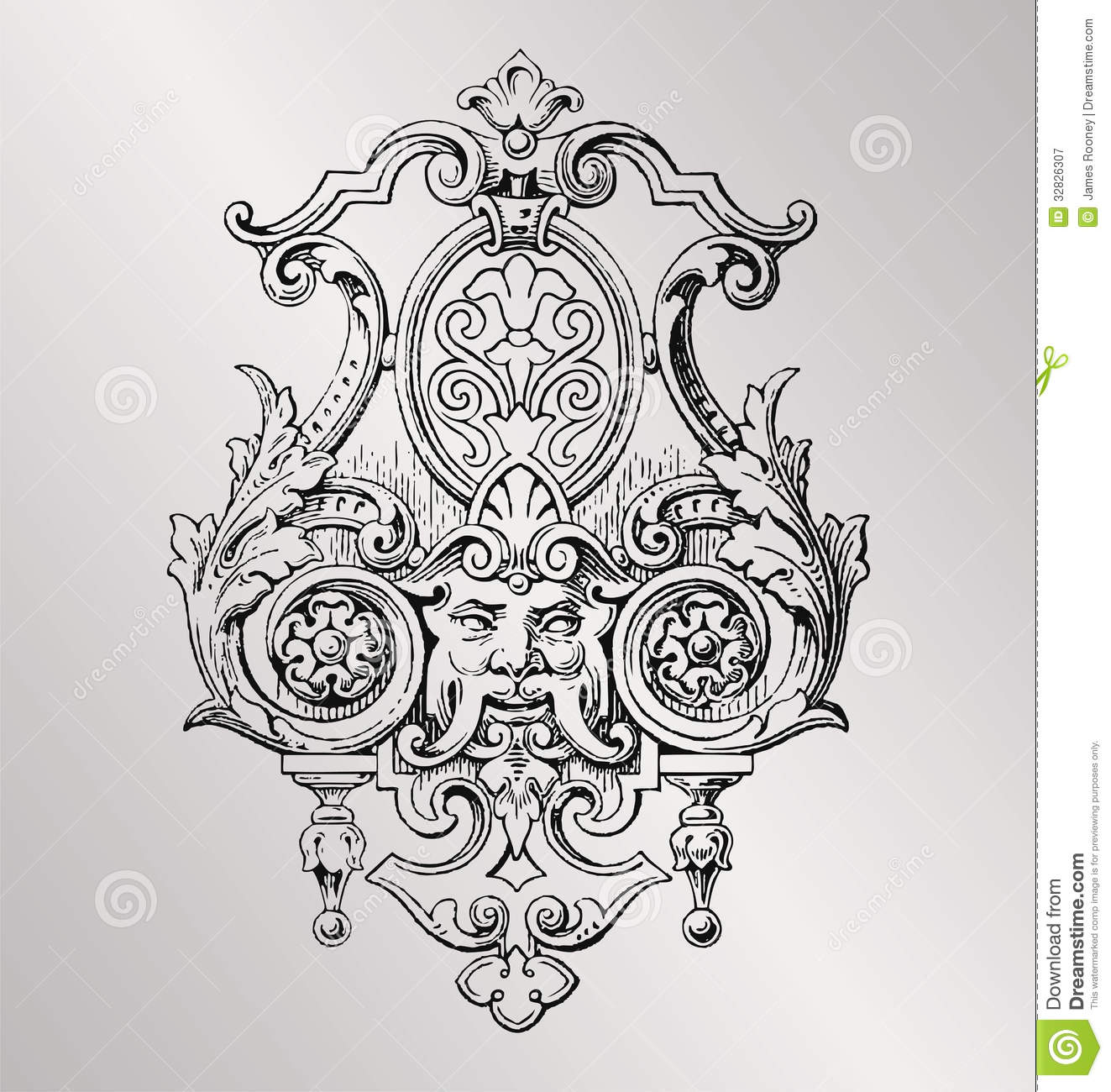 Victorian decoration royalty free stock photography image 32826307 - Style baroque decoration ...