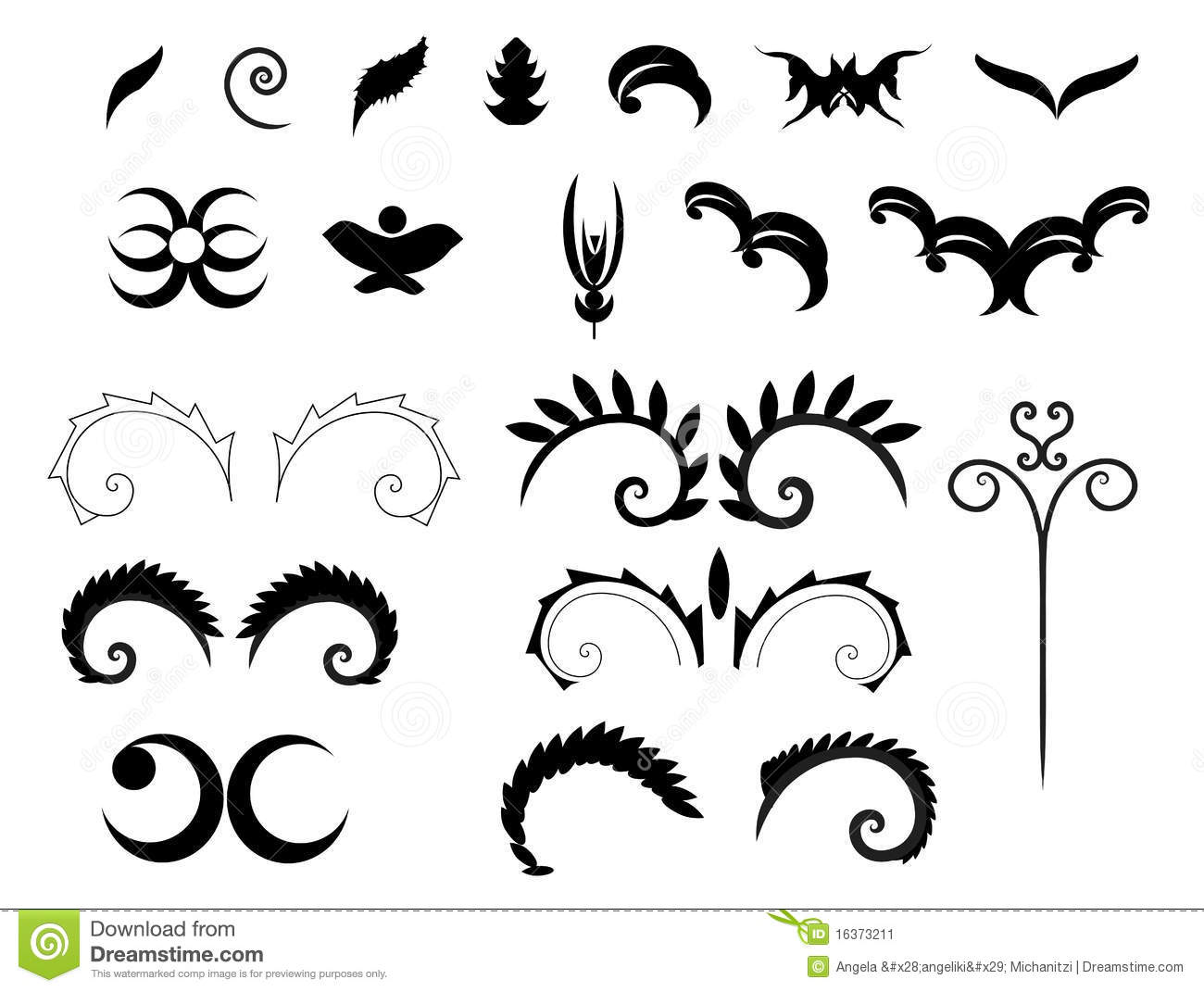 Victorian Decorative Shapes Stock Image Image 16373211