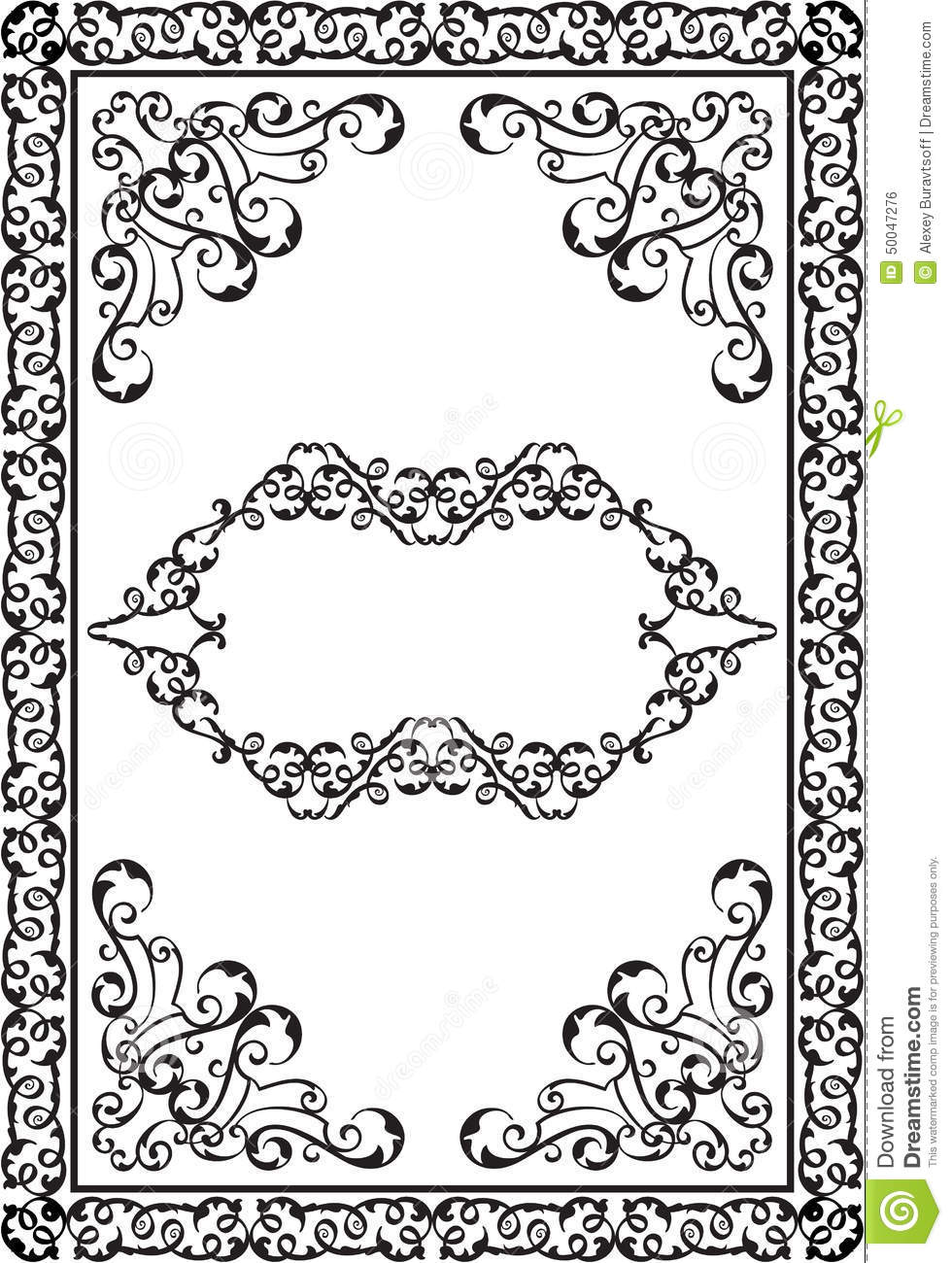 Victorian Design Elements victorian design elements and page decoration stock illustration