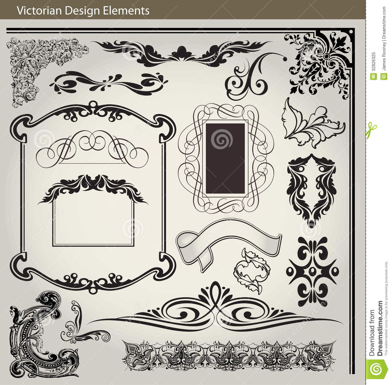 decoration design page set victorian .