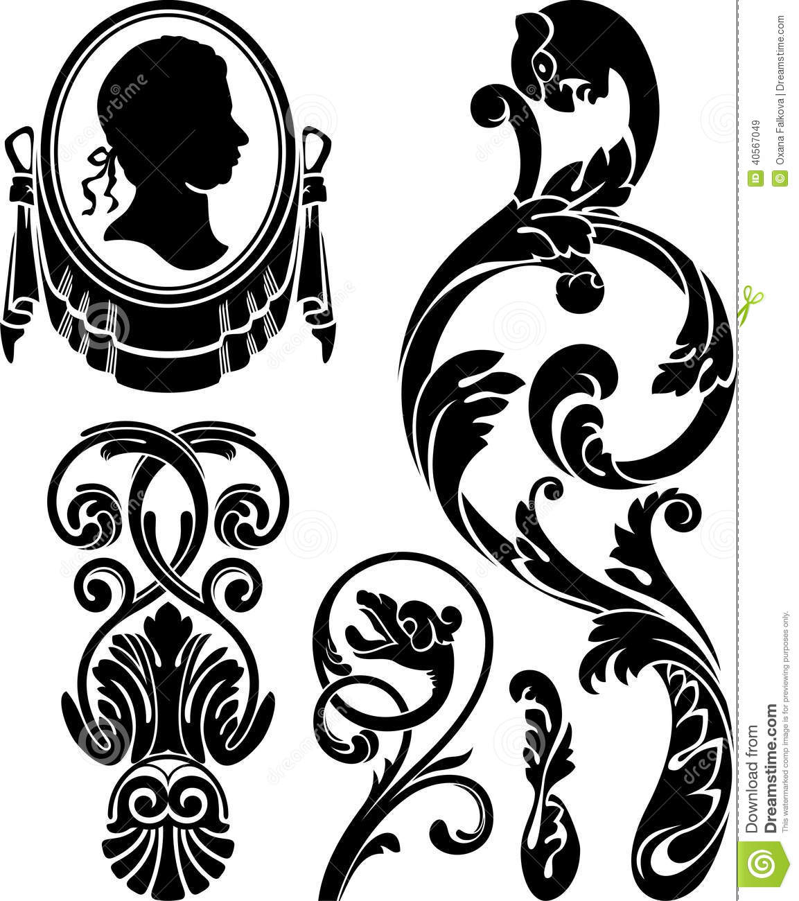 Victorian Design Elements victorian design elements stock vector - image: 40567049