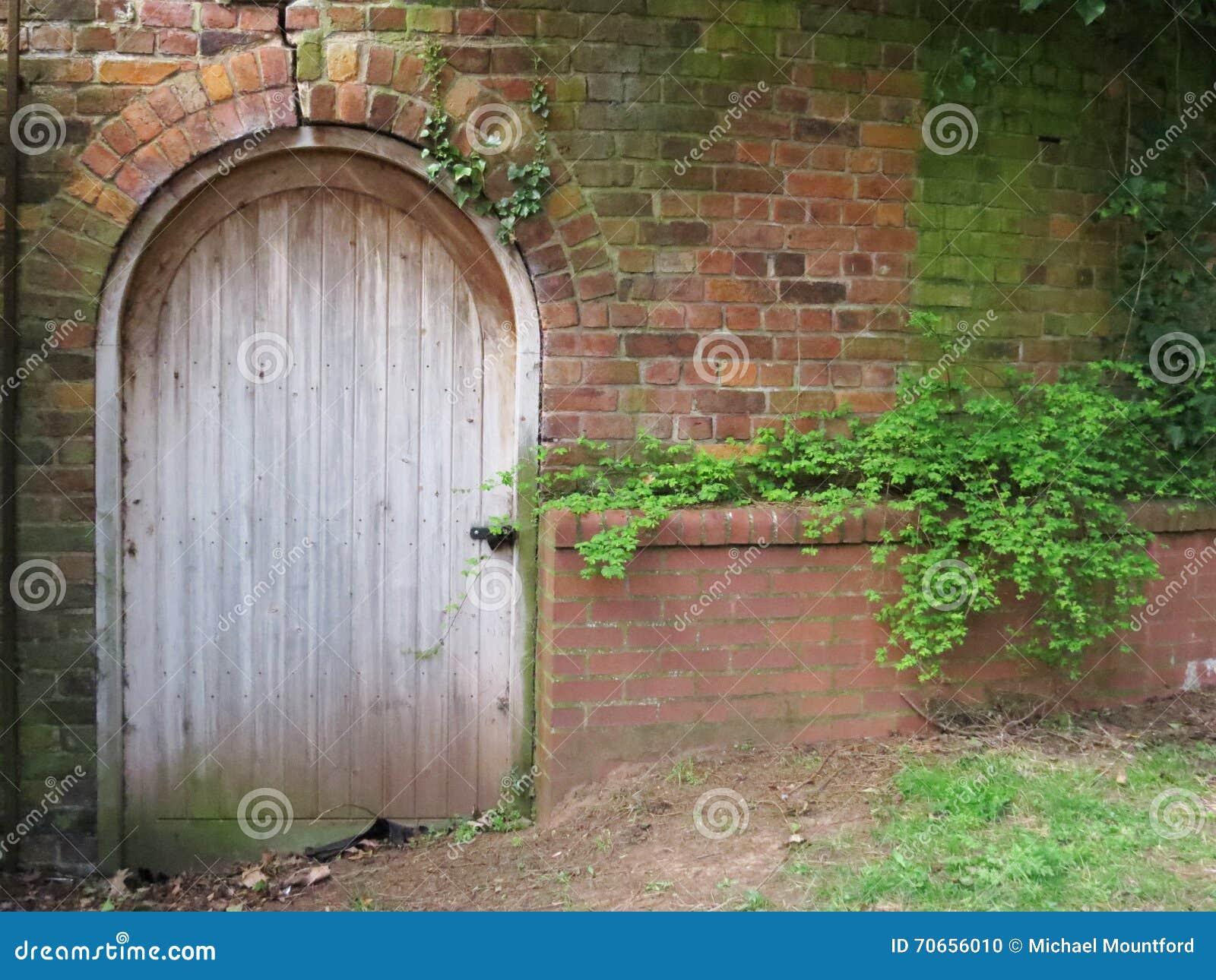 Victorian Door - Into The Walled Garden Stock Photo - Image of ...
