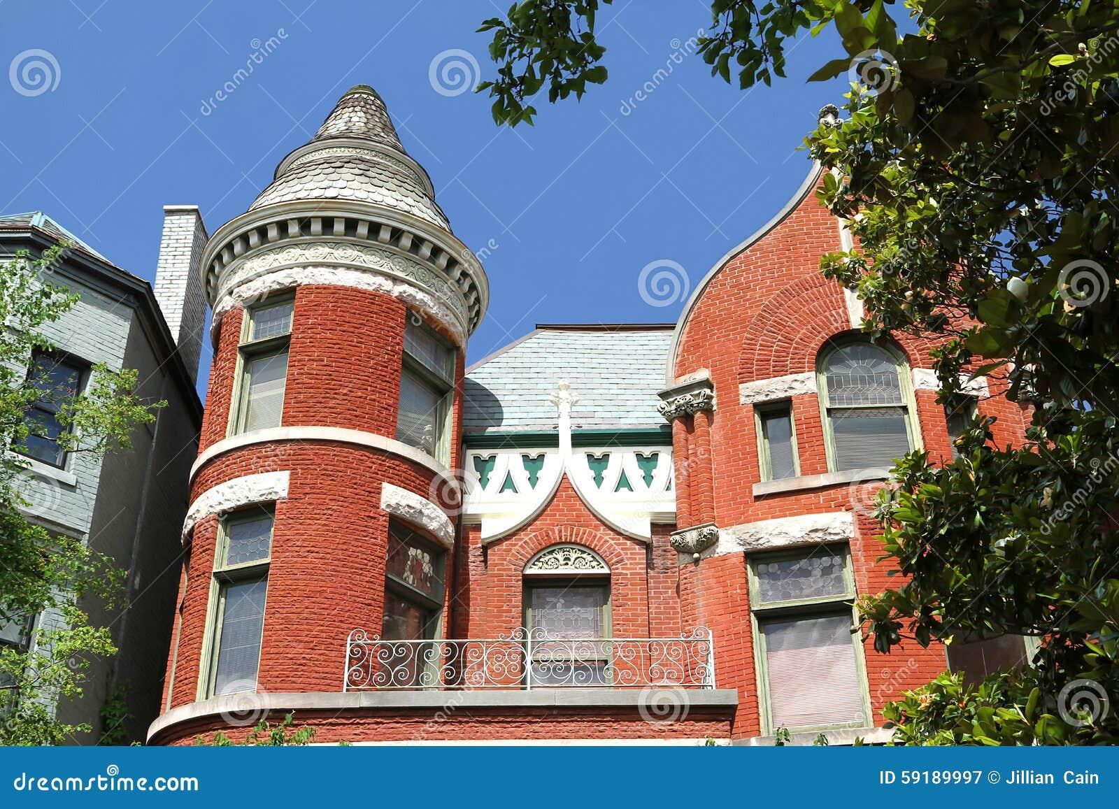 Victorian facade in Old Louisville, Kentucky, USA