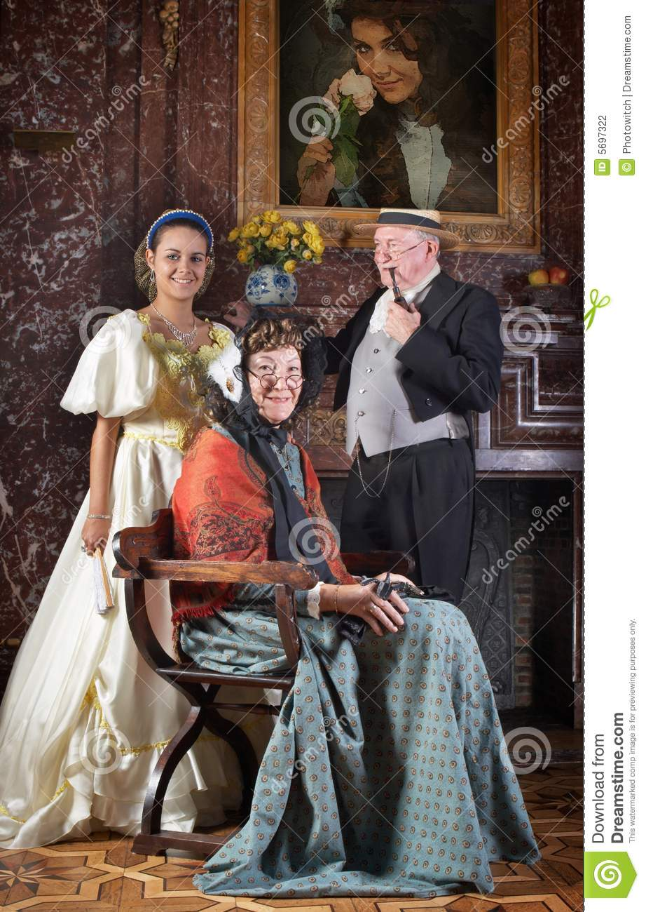 Victorian family portrait stock photo. Image of living ...