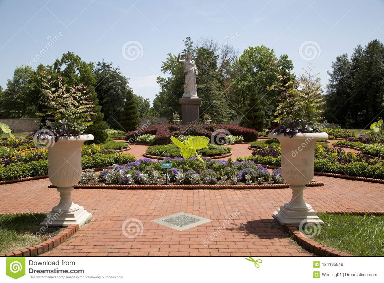 Download Victorian Garden In Missouri Botanical Garden ,ST Louis MO  Editorial Stock Image   Image