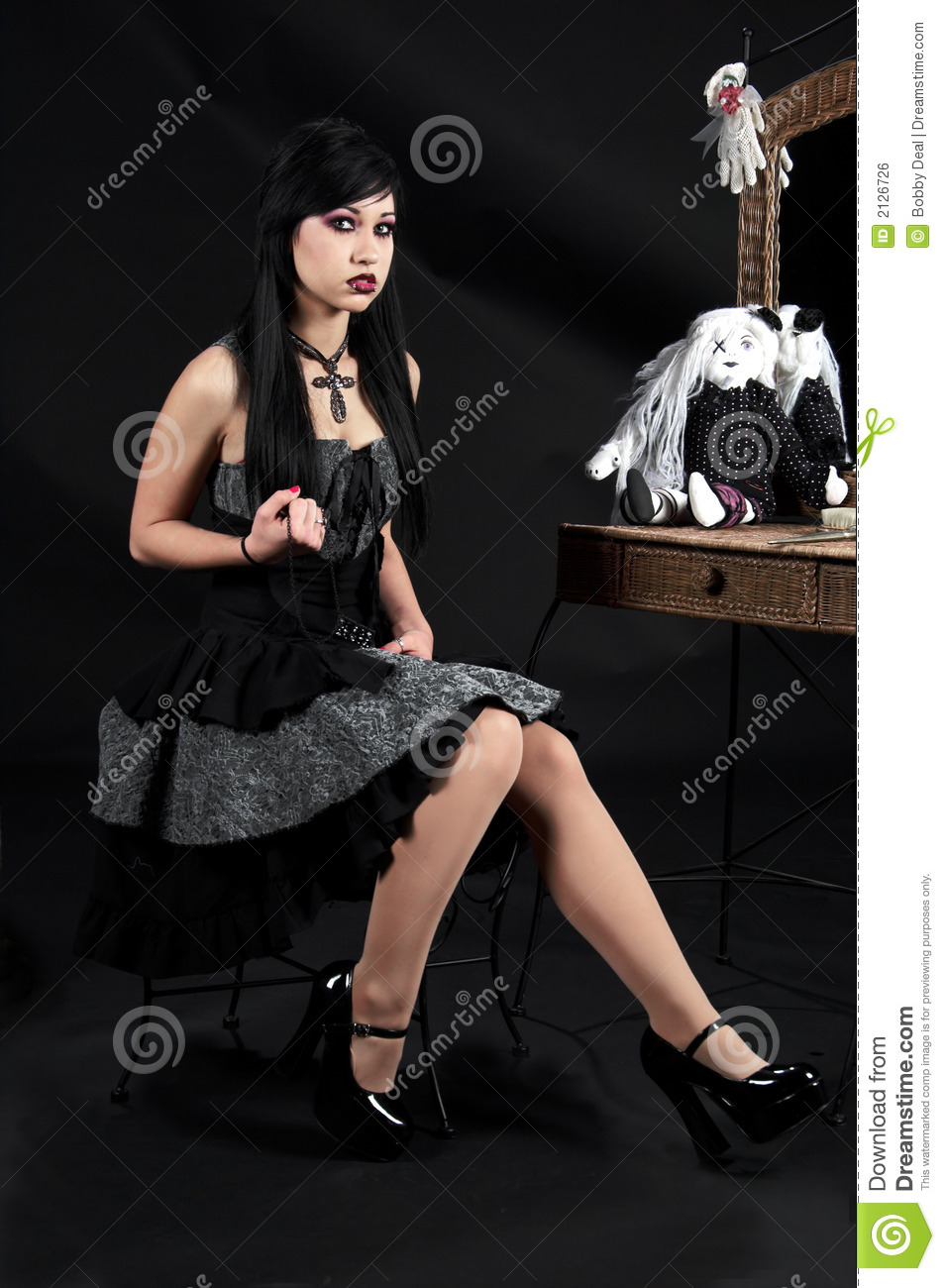 Victorian Gothic Woman Royalty Free Stock Image Image