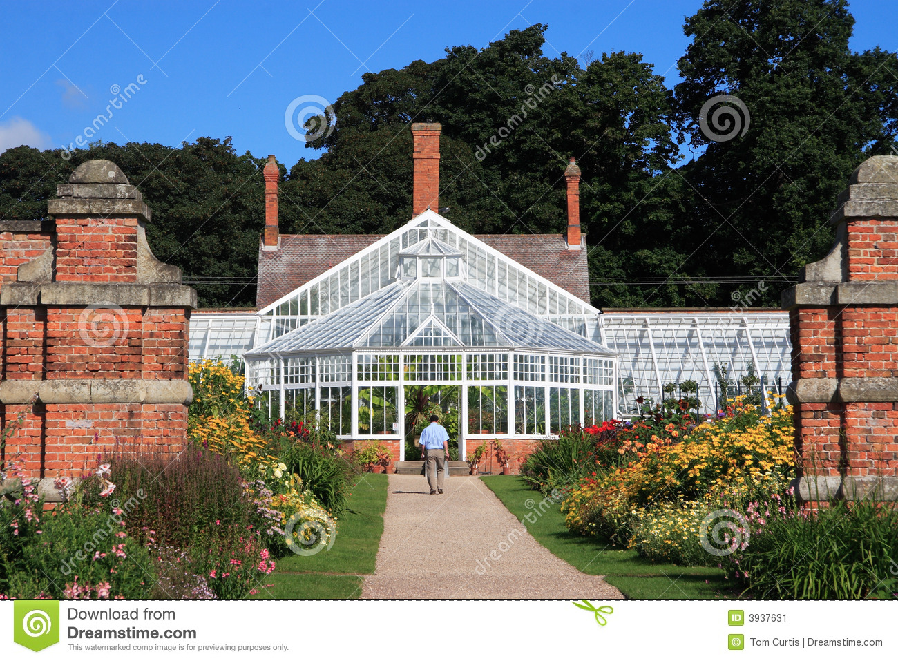 Victorian greenhouse stock image image of building for Build a victorian greenhouse