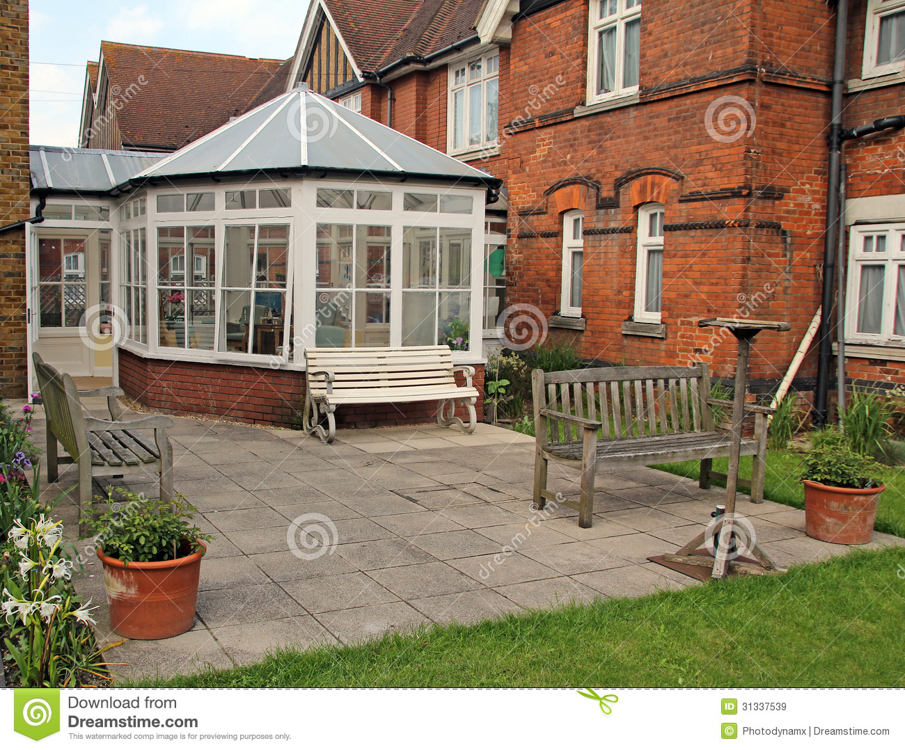 Victorian Home And Conservatory Royalty Free Stock Images