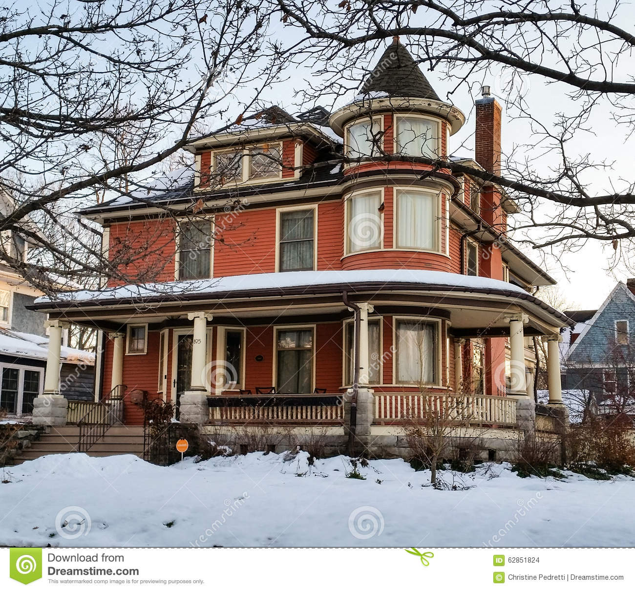 Victorian Home On A Winter Morning Stock Photo Image 62851824