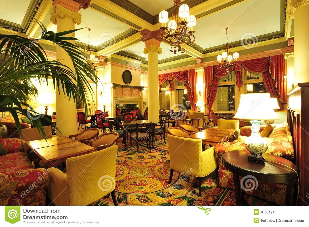 Victorian Hotel Lobby Stock Photo Image Of Lighting