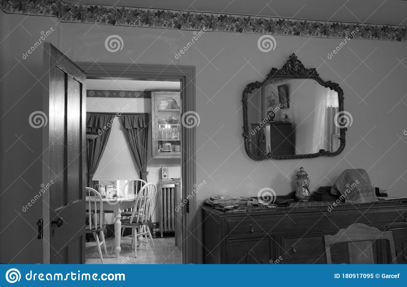 Victorian House Decor In Black And White Editorial Image Image Of Home Victorian 180917095