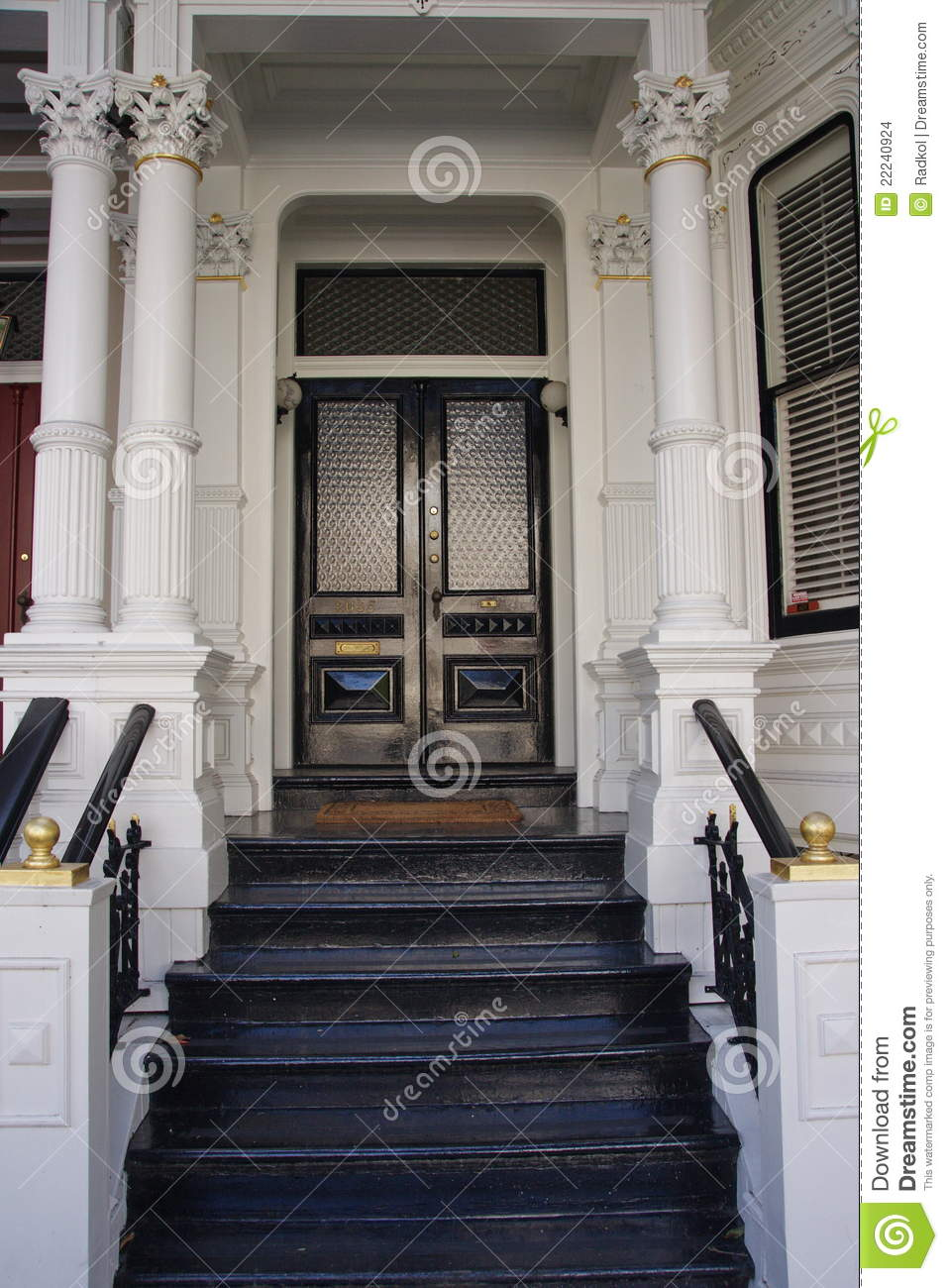 Victorian House Entrance Stock Photo Image Of California