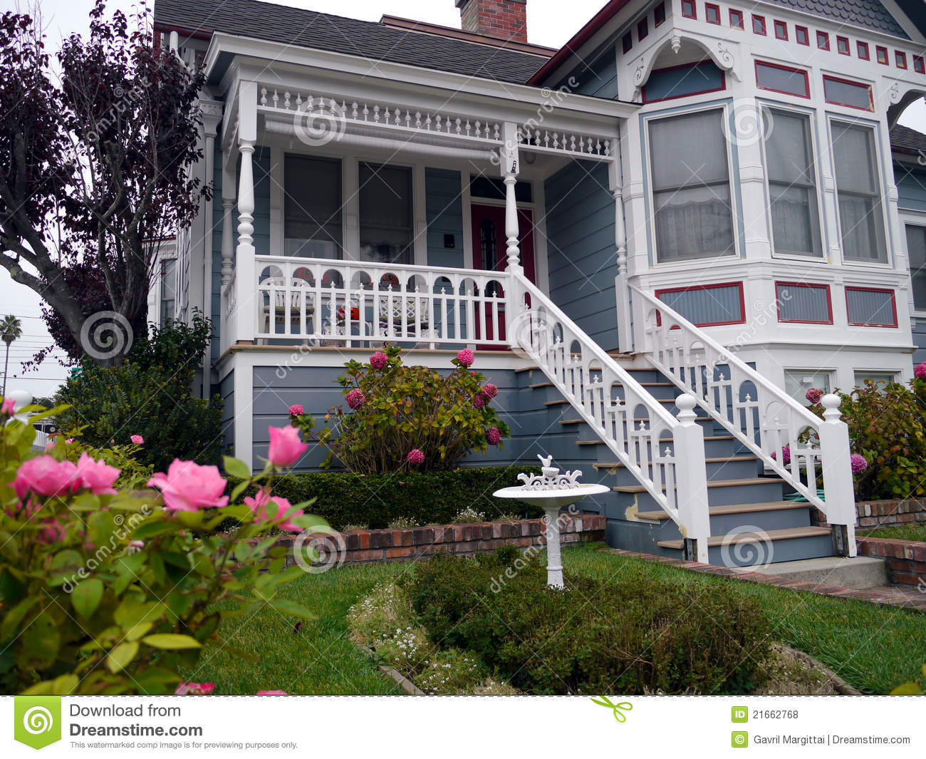 Victorian House Entrance And Garden Stock Photo Image Of